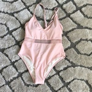 Cupshe Pink One Piece Bathing Suit- Medium